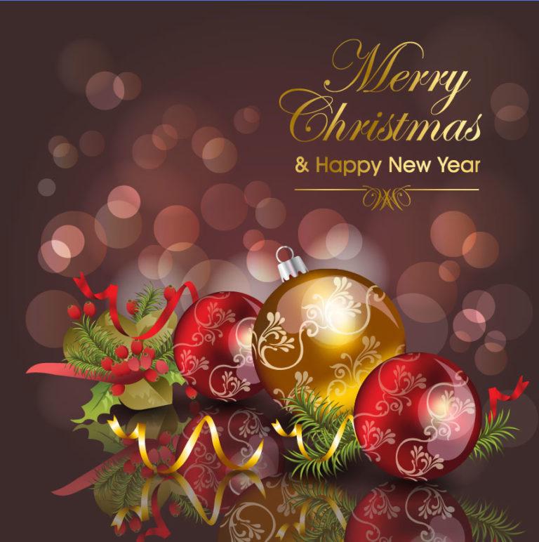 Открытка на английском с новым годом и рождеством