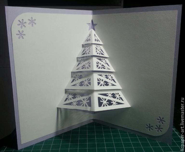 Днем рождения, киригами новогодняя открытка своими руками