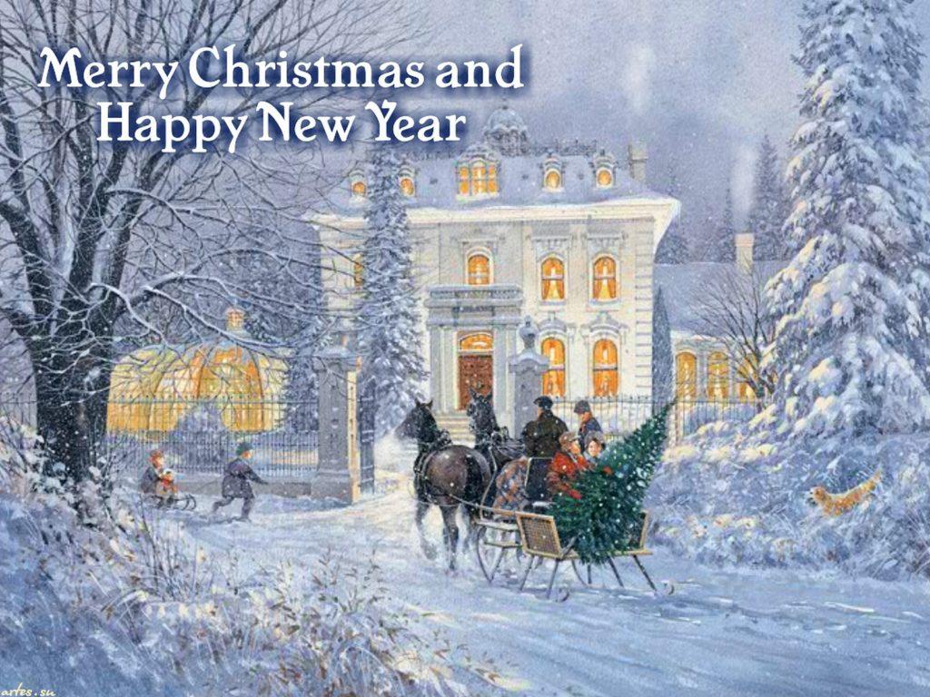 Открытки с новым годом и рождеством английские, открытку новый