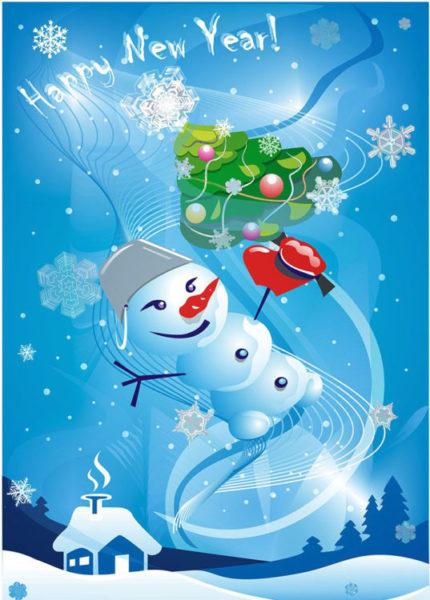 рисунок новогоднего поздравления
