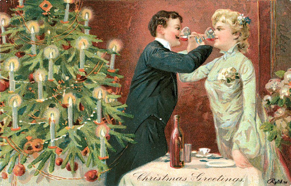 Ретро фото открыток к новому году, черепом день рождения
