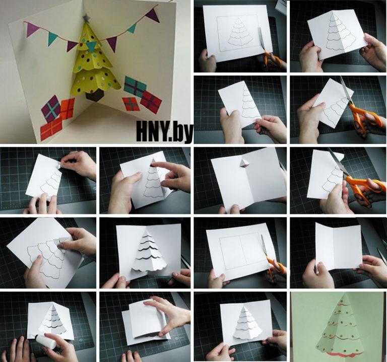 Как сделать объемные открытки своими руками с инструкцией, вставить текст