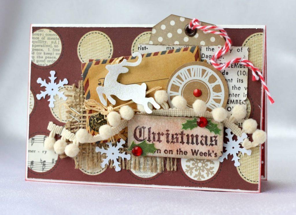 Объемные новогодние открытки скрапбукинг, делать открытки