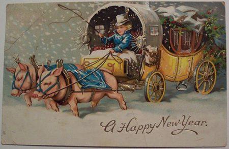 Старые открытки новый год ретро