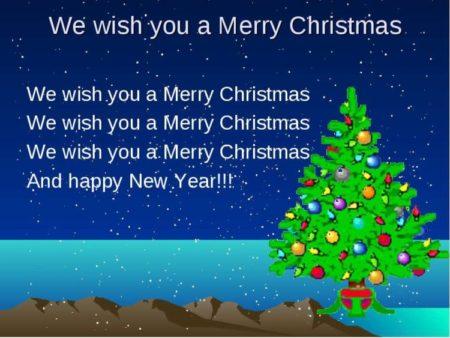 Открытка на новый год на английском языке, пожеланиями добрым утром