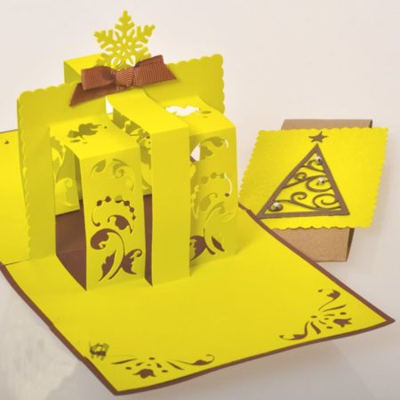 Днем, необычные объемные открытки на новый год