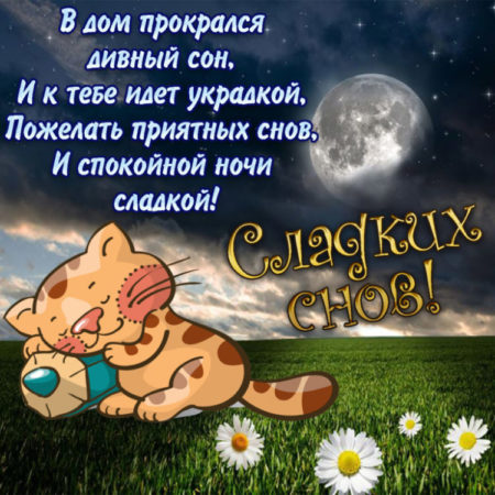 Открытки со словами спокойной ночи загадочные