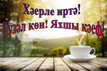 Дню, открытки с пожеланиями доброго утра на татарском языке