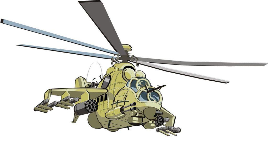 Открытка с вертолетом на 23, картинки