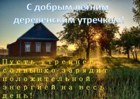 впредь такой пожелание доброго утра в деревне картинки нежелание