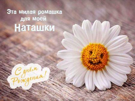 С днем рождения наташа открытки с ромашками, мимозой марта