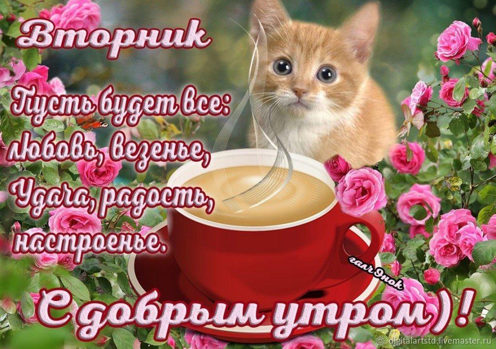 Поздравлением, музыкальная открытка с добрым утром вторника